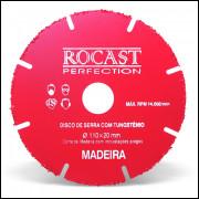 Disco de Serra com Tungstênio para Madeira c/ pregos  110 x 20mm ROCAST - Perfection